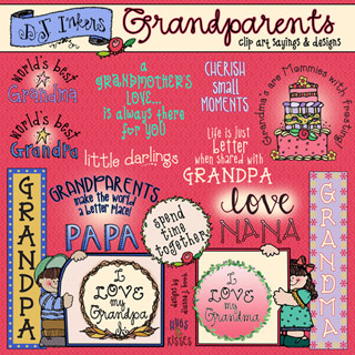 Grandparents - Sayings and Clip Art Download