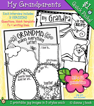 My Grandparents Printables Download