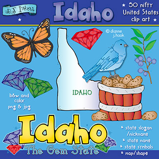 Idaho USA Clip Art Download