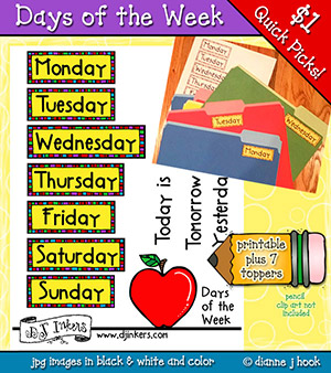 Days of the Week Printable Download