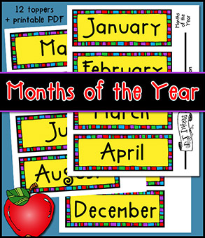 Months of the Year Printable Download