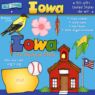 Iowa USA Clip Art Download
