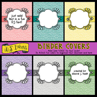 Cool Binder Covers Clip Art Download