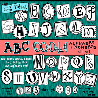 ABC Cool Clip Art Alphabet Download