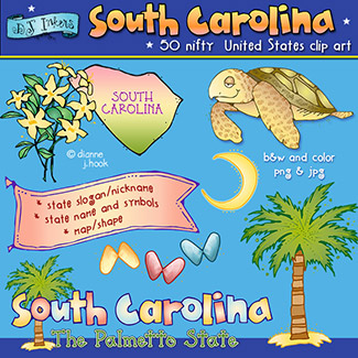 South Carolina USA Clip Art Download