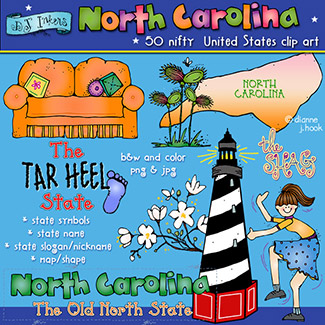 North Carolina USA Clip Art Download