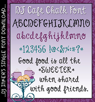 DJ Cafe Chalk Font Download