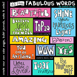 Fabulous Words Clip Art Download