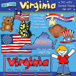 Virginia USA Clip Art Download