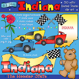 Indiana USA Clip Art Download