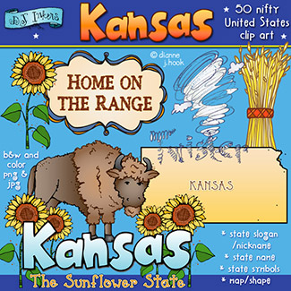 Kansas USA Clip Art Download