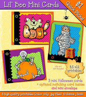 Lil' Boo Printable Mini Cards Download