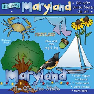 Maryland USA Clip Art Download