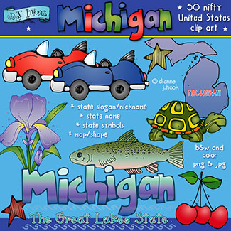 Michigan USA Clip Art Download