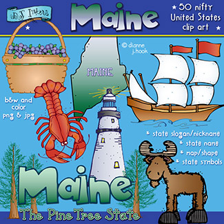 Maine USA Clip Art Download