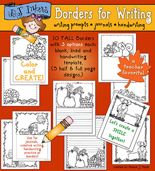 Fall Borders for Writing Download