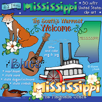 Mississippi USA Clip Art Download