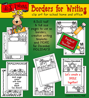 Holiday Borders for Writing Download