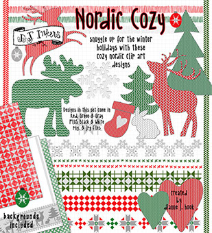 Nordic Cozy - Holiday Clip Art Download
