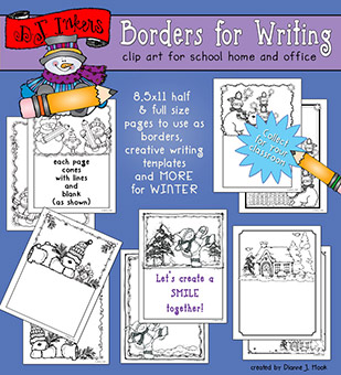 Winter Borders for Writing Download