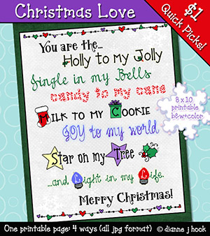 Christmas Love Printable Download