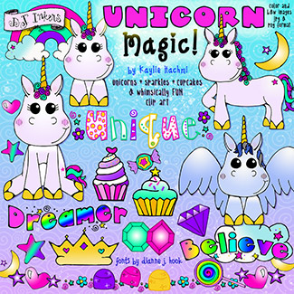Unicorn Magic Clip Art Download