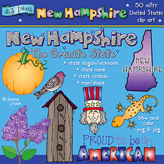 New Hampshire USA Clip Art Download