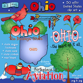 Ohio USA Clip Art Download