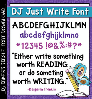 DJ Just Write Font Download
