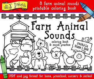 Farm Sounds Printable Coloring Book Download