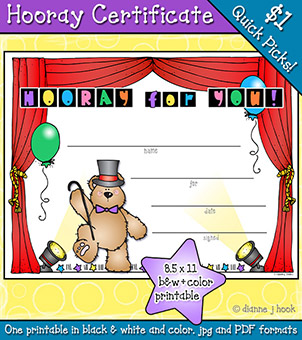 Hooray For You Printable Certificate Download