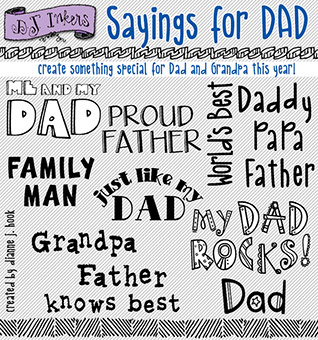 Sayings for Dad Clip Art Download