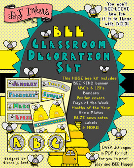 Bee Classroom Decorations & Printables Download
