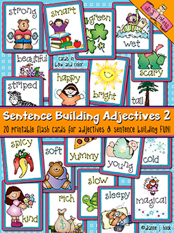 Sentence Building: Adjectives Flash Cards Download 2