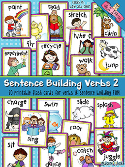 Sentence Building: Verbs Flash Cards Download 2