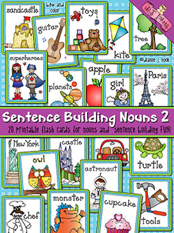 Sentence Building: Nouns Flash Cards Download 2