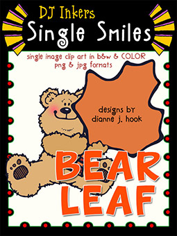 Bear Leaf - Single Smiles Clip Art Image