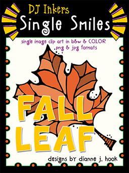 Fall Leaf - Single Smiles Clip Art Image