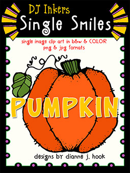 Pumpkin - Single Smiles Clip Art Image