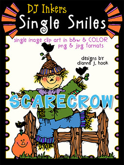 Scarecrow - Single Smiles Clip Art Image