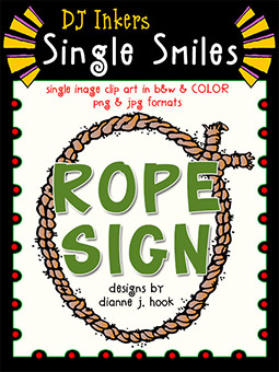 Rope Sign - Single Smiles Clip Art Image