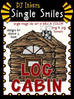 Log Cabin - Single Smiles Clip Art Image
