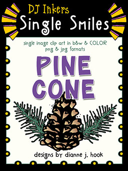 Pine Cone - Single Smiles Clip Art Image -NEW!