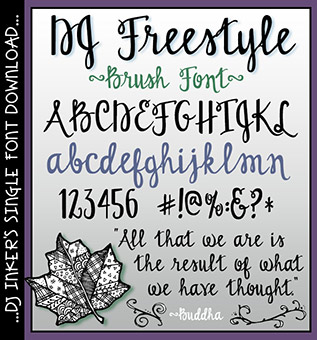DJ Freestyle Brush Font Download