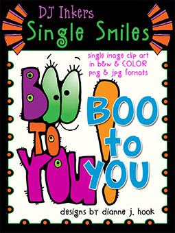 Boo to YOU - Single Smiles Clip Art Image