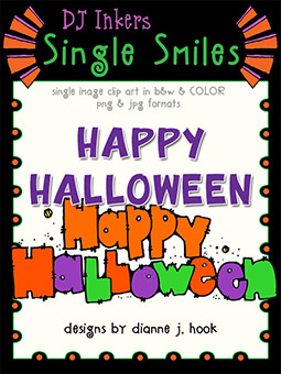 Happy Halloween - Single Smiles Clip Art Image