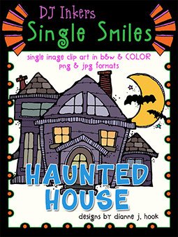 Haunted House - Single Smiles Clip Art Image