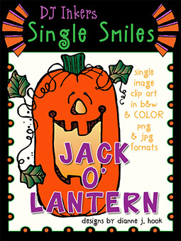 Jack-o'-Lantern - Single Smiles Clip Art Image