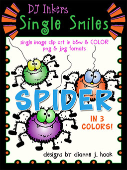 Spider - Single Smiles Clip Art Image
