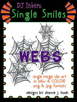 Webs - Single Smiles Clip Art Image